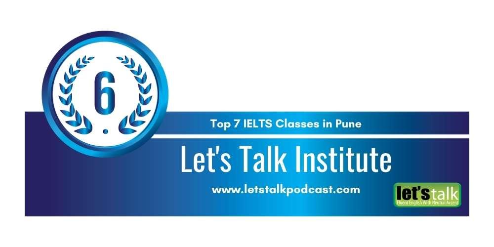 Rank 6 in Top 7 IELTS Classes in Pune.