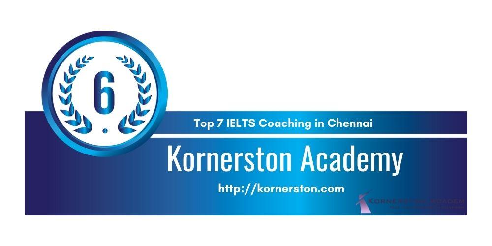 Rank 6 in Top 7 IELTS Coaching in Chennai