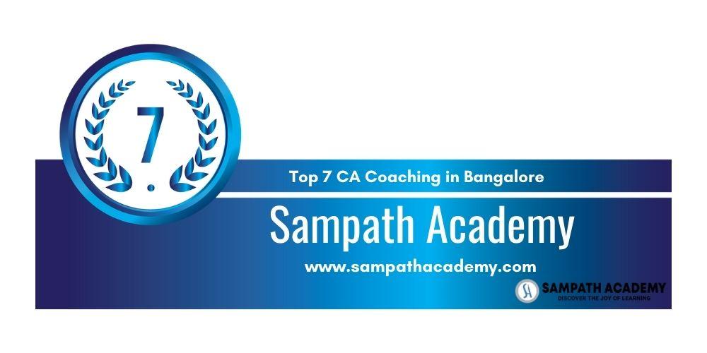 Rank 7 in Ca Coaching in Bangalore