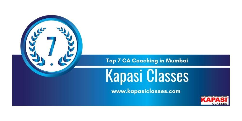 Rank 7 in Ca Coaching in Mumbai