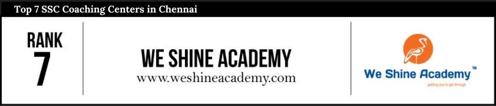 Rank 7 in SSC Coaching Centers in Chennai