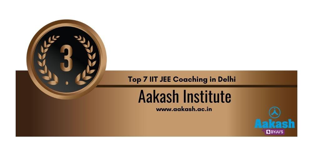 Rank 3 IIT JEE Coaching in Delhi