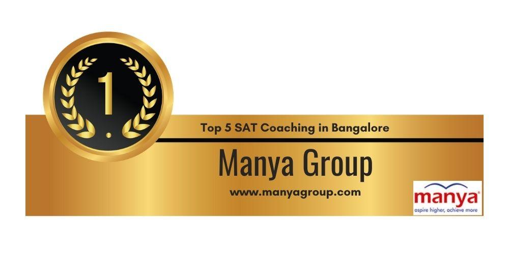 Rank 1 in Top 5 SAT Coaching in Bangalore