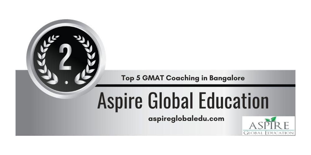 Rank 2 in Top 5 GMAT Coaching in Bangalore