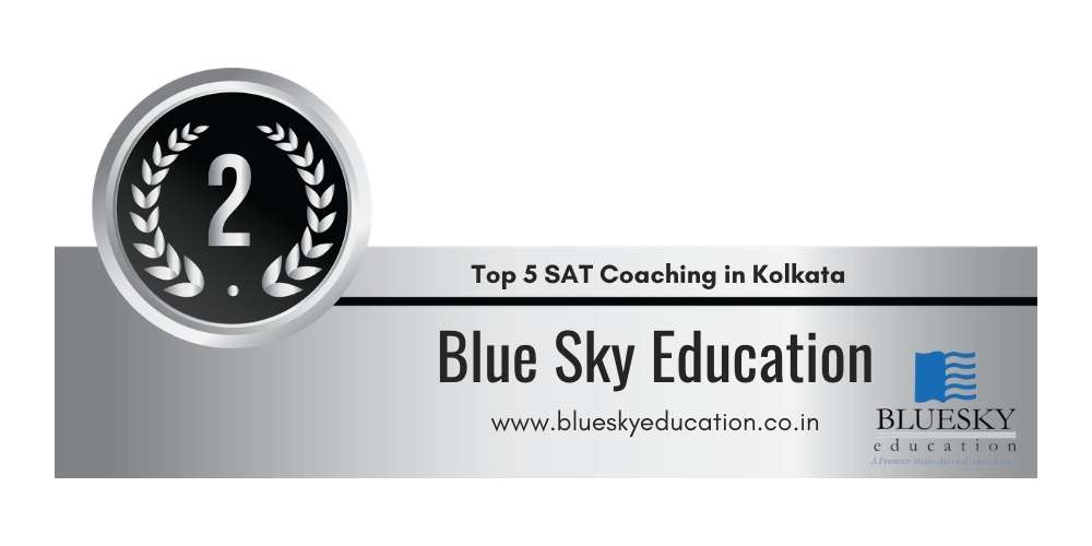 Rank 2 in Top 5 SAT Coaching in Kolkata.
