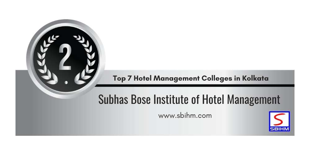 Rank 2 in Top 7 Hotel Management Colleges in Kolkata.