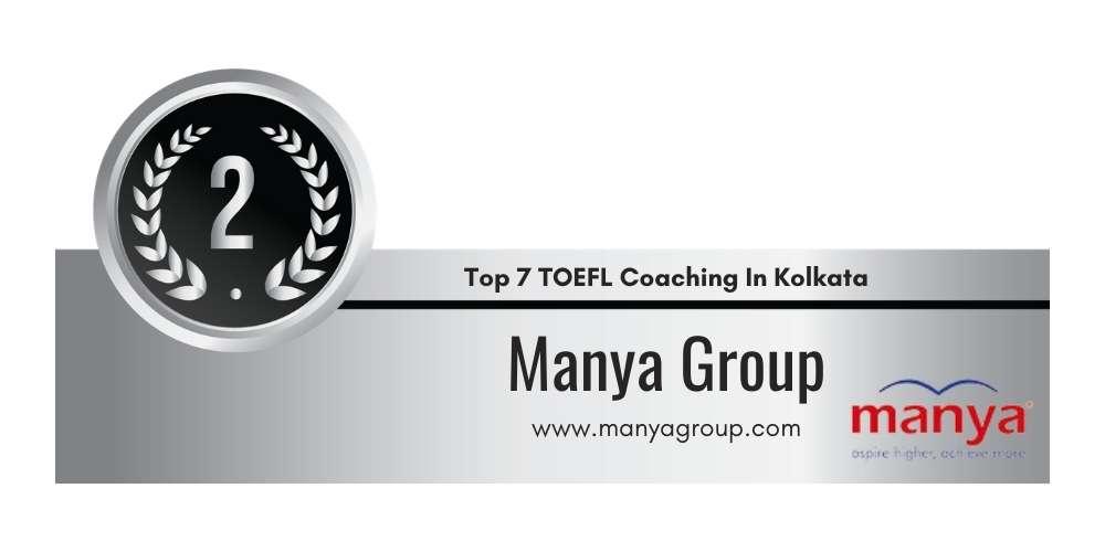 Rank 2 in Top 7 TOEFL Coaching in Kolkata.
