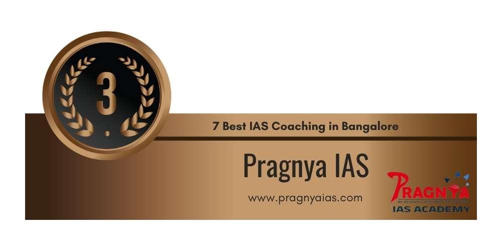 Rank 3 IAS in Bangalore.