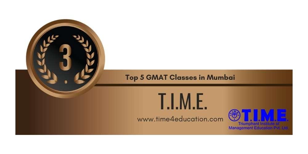 Rank 3 in Top 5 GMAT Classes in Mumbai.