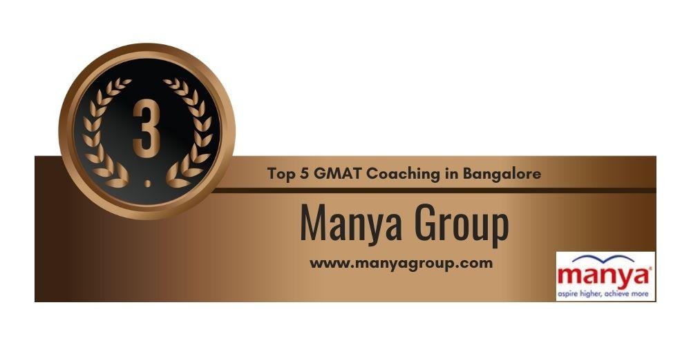 Rank 3 in Top 5 GMAT Coaching in Bangalore