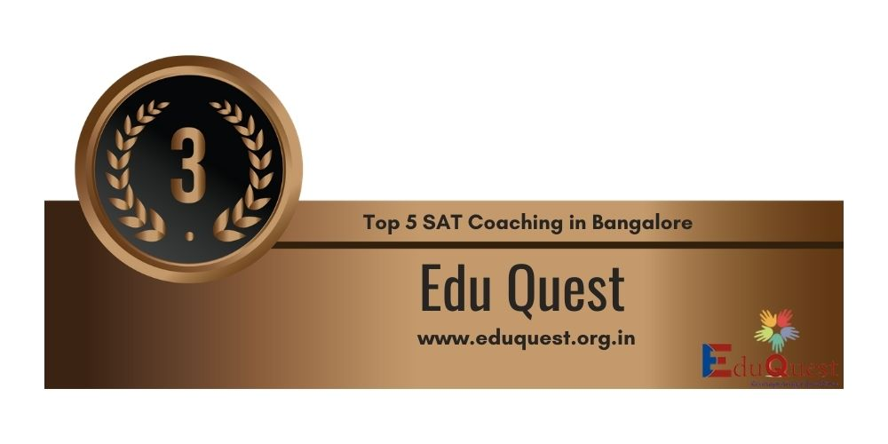 Rank 3 in Top 5 SAT Coaching in Bangalore