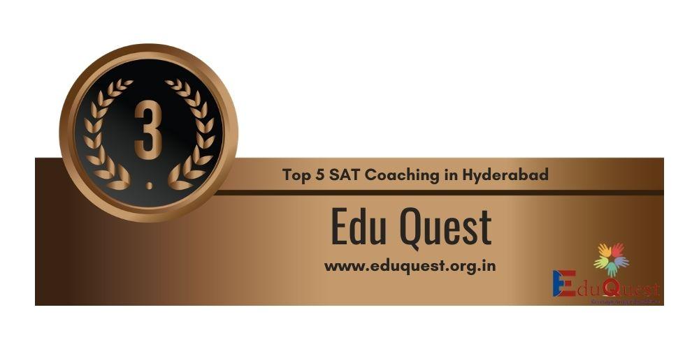Rank 3 in Top 5 SAT Coaching in Hyderabad