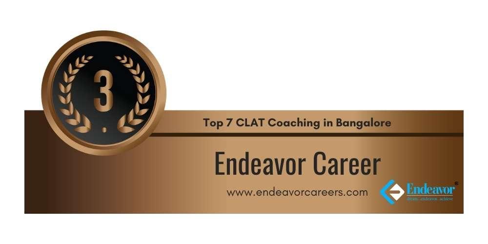 Rank 3 in Top 7 CLAT Coaching in Bangalore.