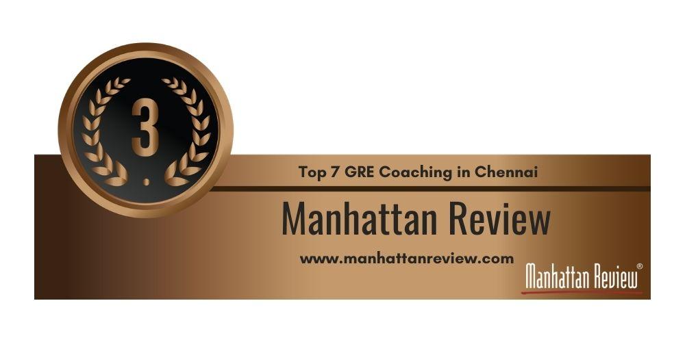 Rank 3 in Top 7 GRE Coaching in Chennai