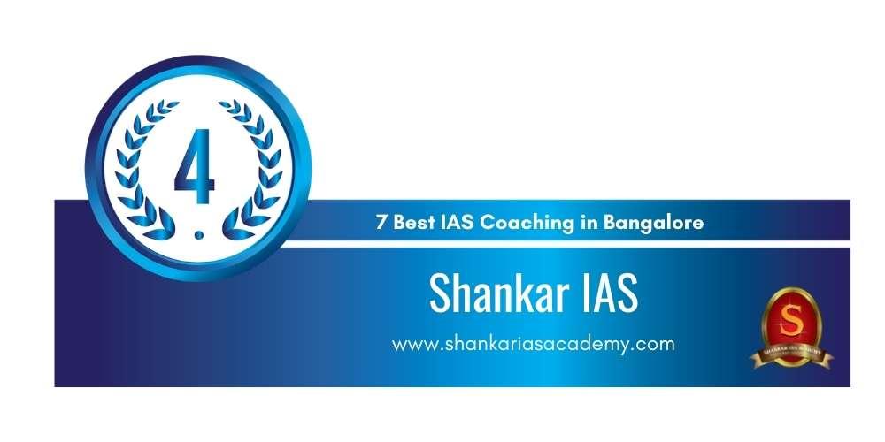 Rank 4 in 7 UPSC Coaching in Bangalore.