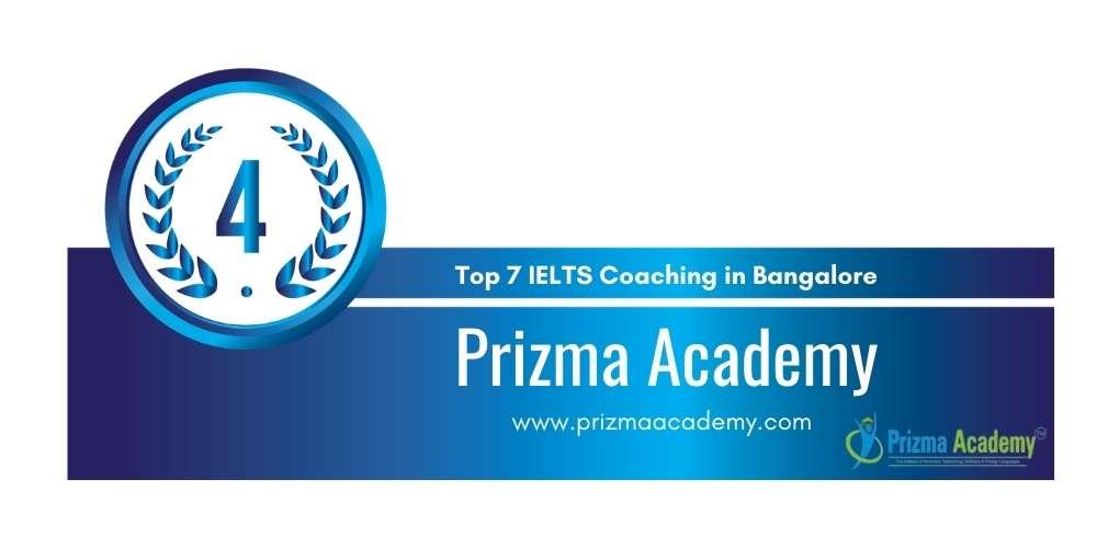 Rank 4 in Top 7 IELTS Coaching in Bangalore.