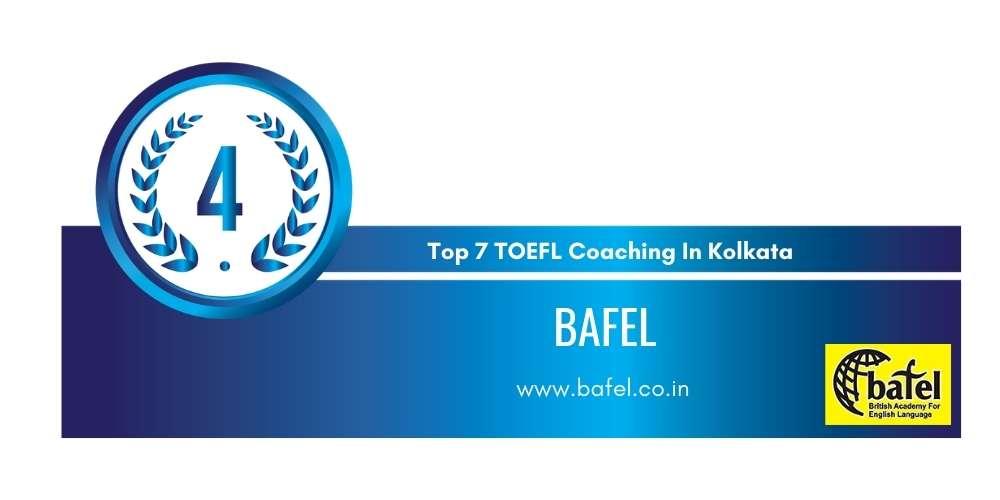 Rank 4 in Top 7 TOEFL Coaching in Kolkata.