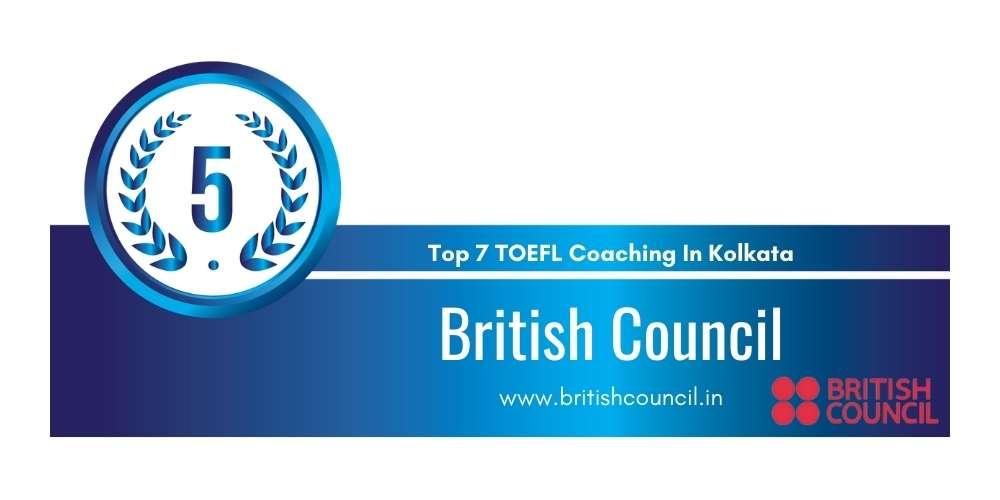 Rank 5 in Top 7 TOEFL Coaching in Kolkata.