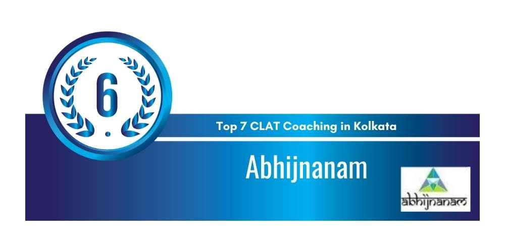 Rank 6 in Top 7 CLAT Coaching in Kolkata.
