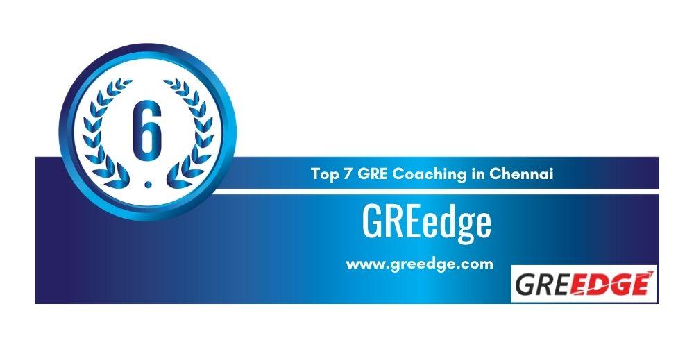Rank 6 in Top 7 GRE Coaching in Chennai