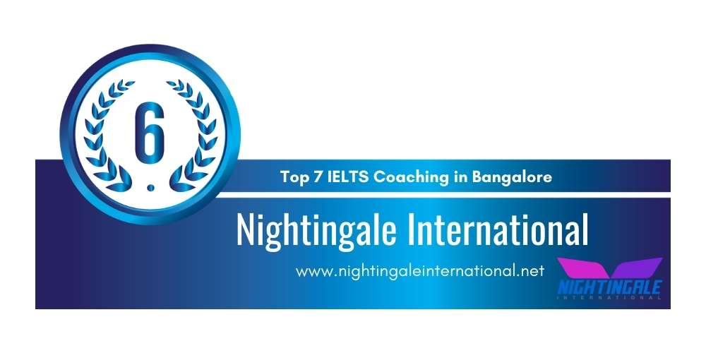 Rank 6 in Top 7 IELTS Coaching in Bangalore.