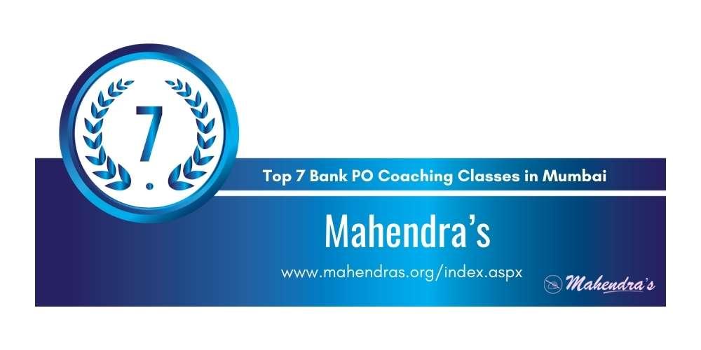 Rank 7 in Top 7 Bank PO Coaching Classes in Mumbai.