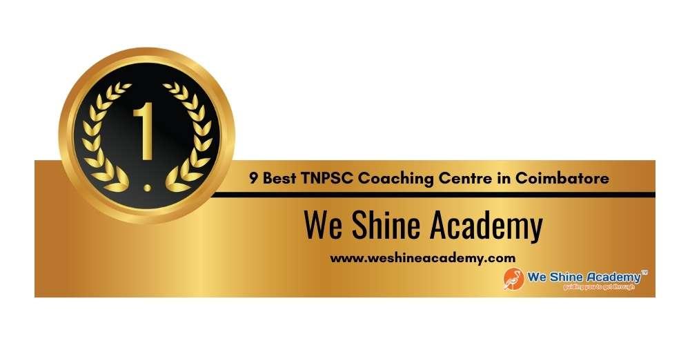 Rank 1 in 9 Best TNPSC Coaching Centre in Coimbatore