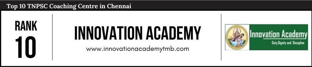 Innovation Academy Chennai at Rank 10