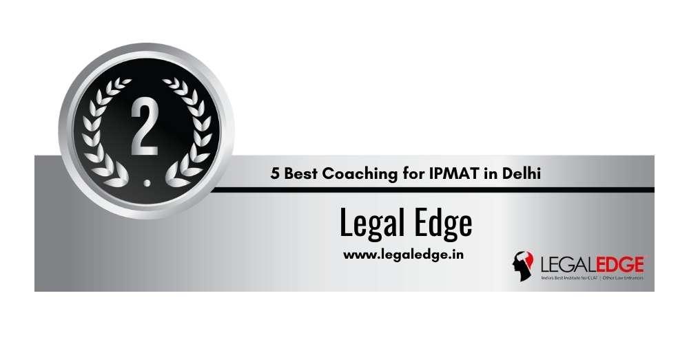 Rank 2 in 5 Best Coaching for IPMAT in Delhi