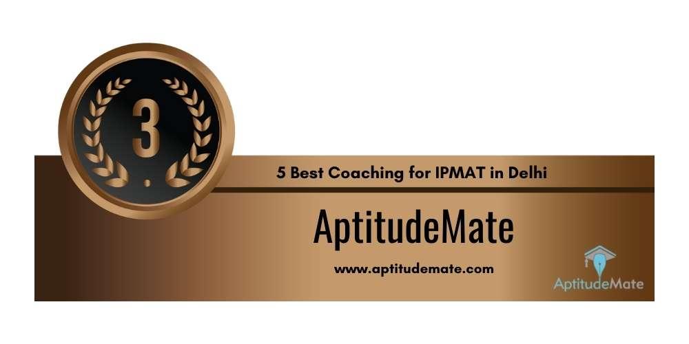 Rank 3 in 5 Best Coaching for IPMAT in Delhi