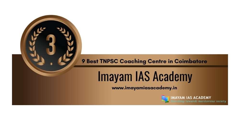 Rank 3 in 9 Best TNPSC Coaching Centre in Coimbatore