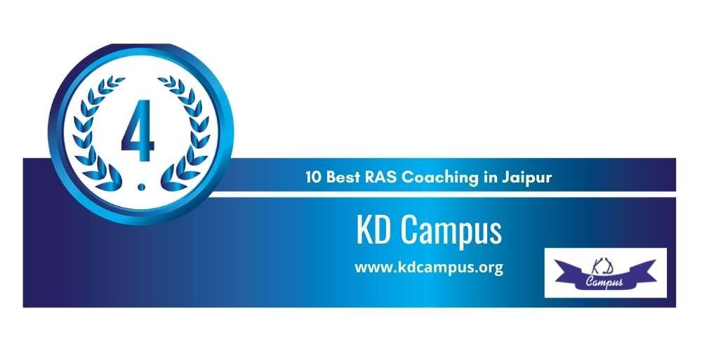 Rank 4 in 10 Best RAS Coaching in Jaipur
