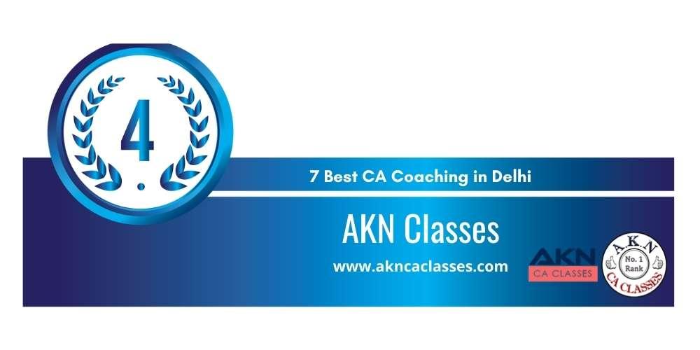 Rank 4 in 7 Best CA Coaching in Delhi