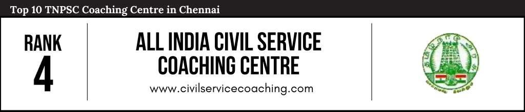 Rank 4 in Top 10 TNPSC Coaching Centre in Chennai