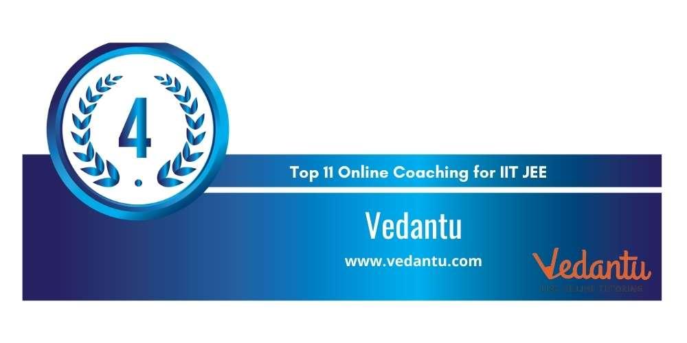 Rank 4 in Top 11 Online Coaching for IIT JEE