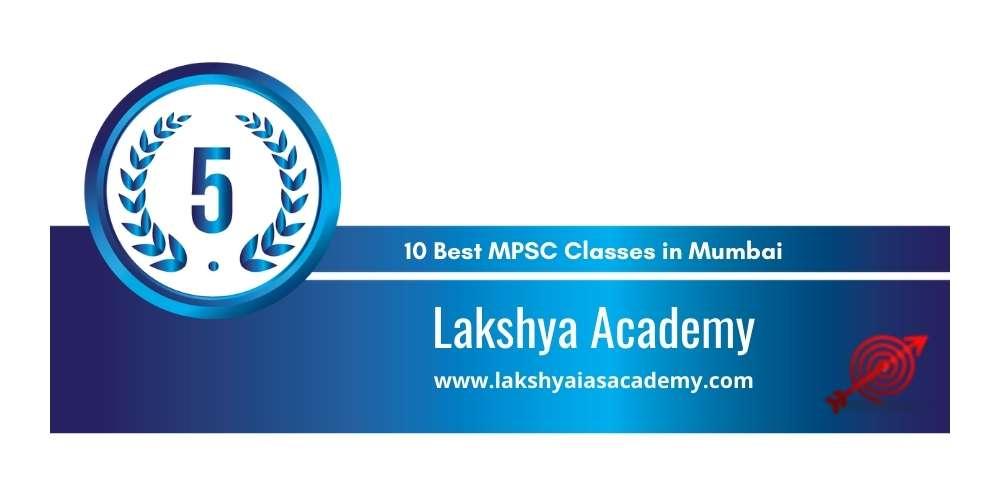 Rank 5 in 10 Best MPSC Classes in Mumbai