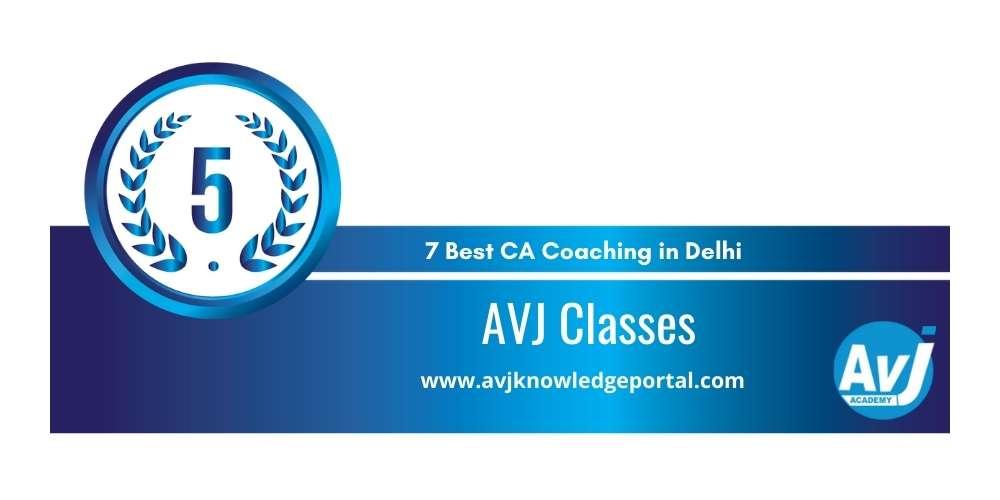 AVJ Classes Delhi at Rank 5