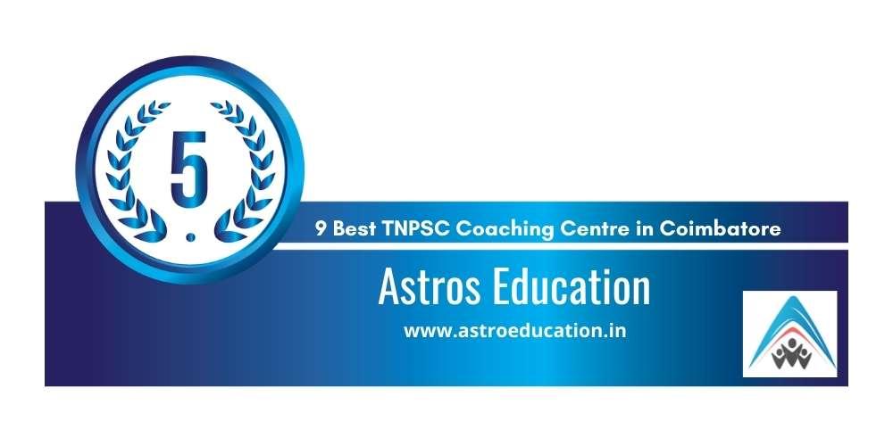 Rank 5 in 9 Best TNPSC Coaching Centre in Coimbatore