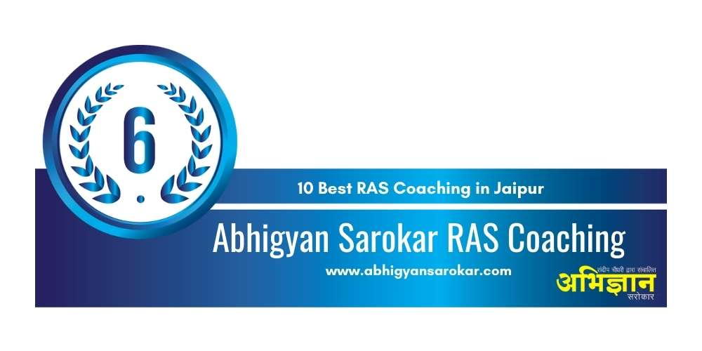 Rank 6 in 10 Best RAS Coaching in Jaipur
