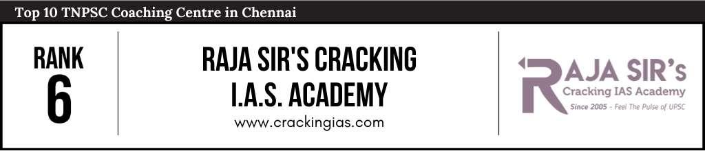 Rank 6 in Top 10 TNPSC Coaching Centre in Chennai
