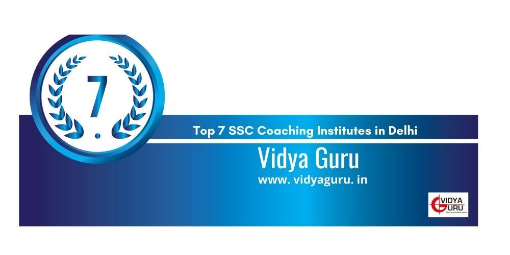 Rank 7 coaching in delhi for ssc