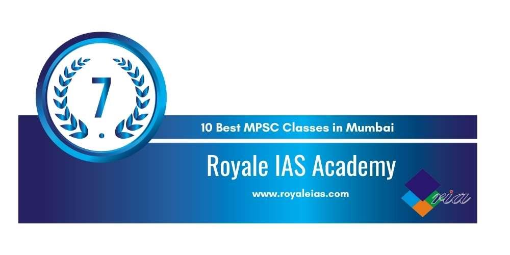 Royale MPSC Academy at Rank 7