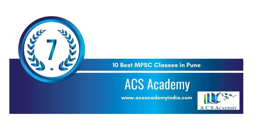 ACS Academy Pune at Rank 7