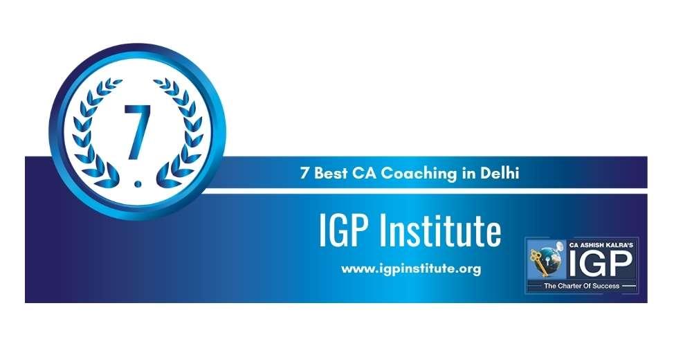 IGP Institute Delhi at Rank 7