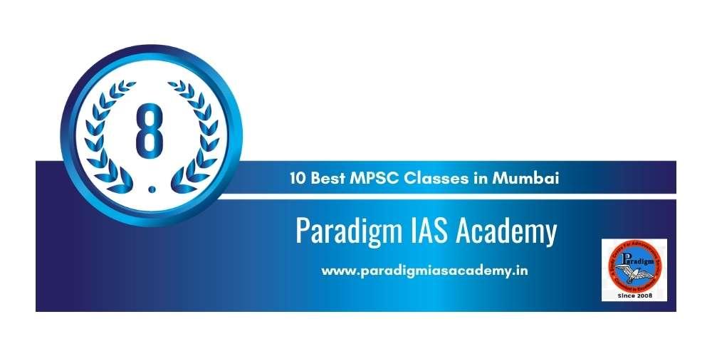 Paradigm MPSC Academy Mumbai at Rank 8