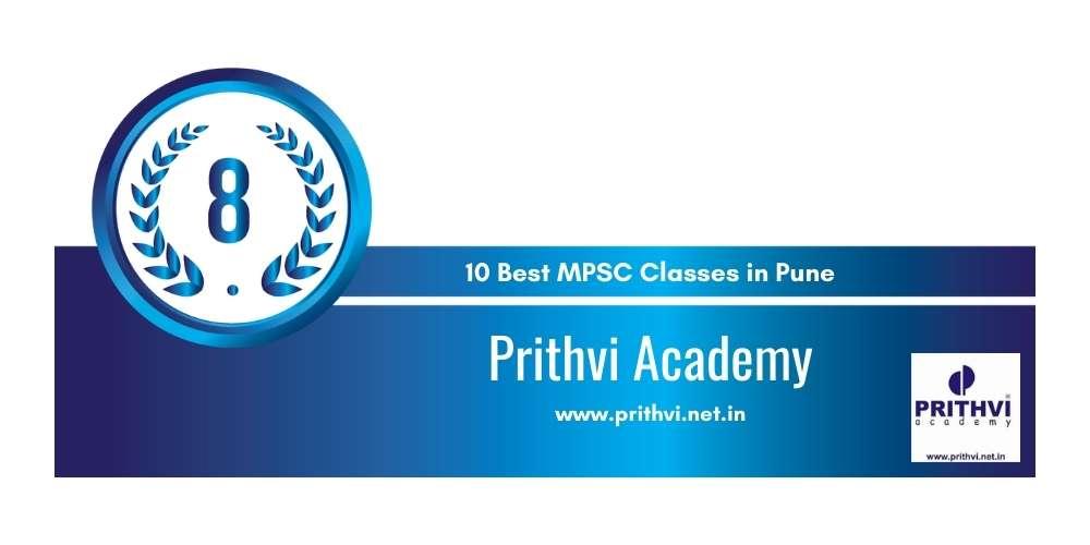 Prithvi Academy Pune at Rank 8