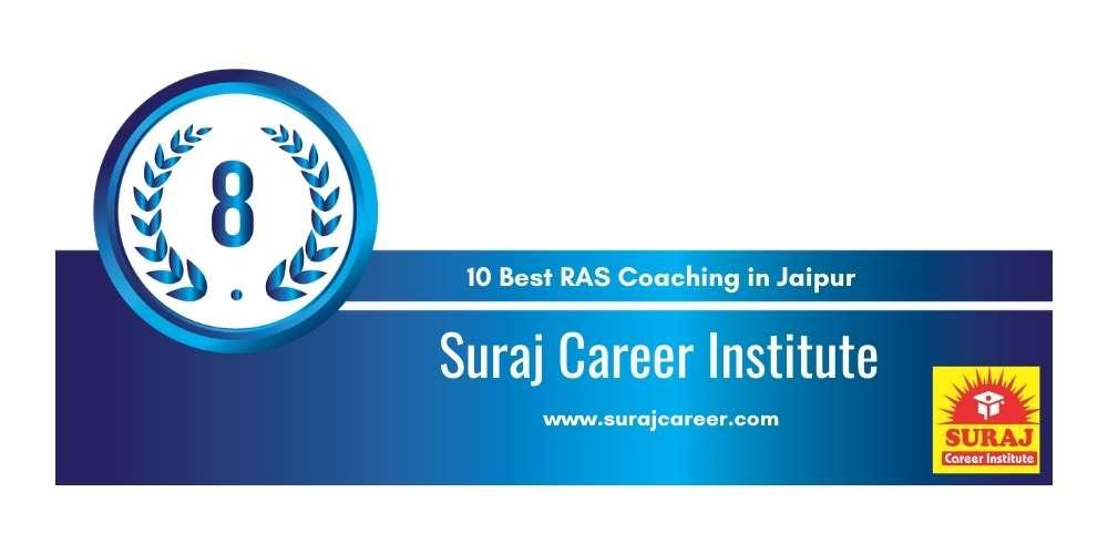Suraj Career Institute at Rank 8