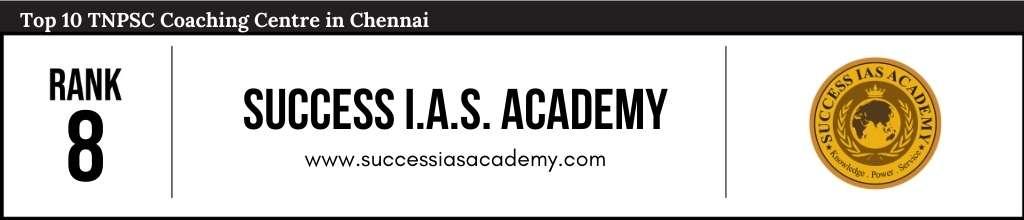 Success IAS Academy at Rank 8