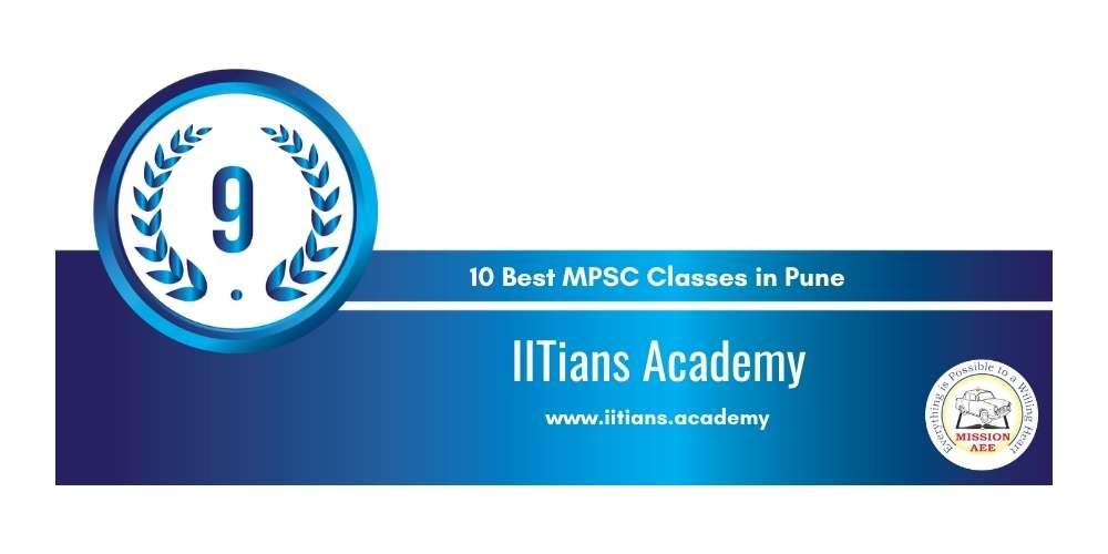 IITians Academy Pune at Rank 9