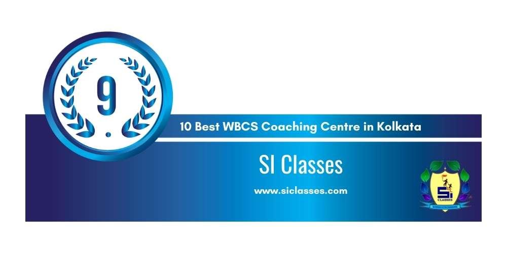 SI Classes Kolkata at Rank 9